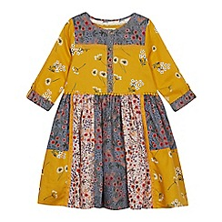 Mantaray - Girls' Mustard Floral Print Dress