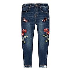 Mantaray - Girls' Blue Poppy Mid Wash Jeans