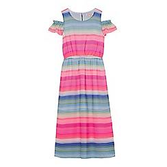 bluezoo - Girls' multi-coloured striped maxi dress