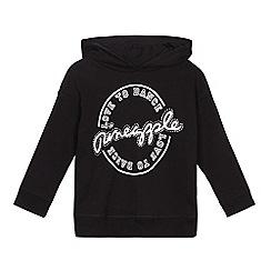 Pineapple - Girls' black diamante detail logo hoodie