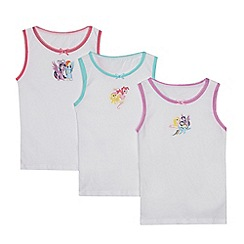 My Little Pony - Pack of three girls' white 'My Little Pony' print vests