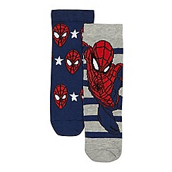 Spider-man - Boys' pack of two navy and grey 'Spider-Man' socks