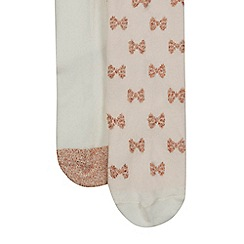 Baker by Ted Baker - Pack of two girls' assorted tights