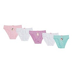 Disney Princess - 5 pack girls' assorted cotton 'Disney princess' briefs