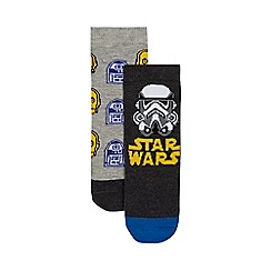 Star Wars - Pack of two boys' multi-coloured 'Star Wars' socks