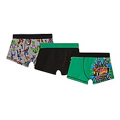 Marvel - 3 pack boys' assorted 'Marvel' print trunks