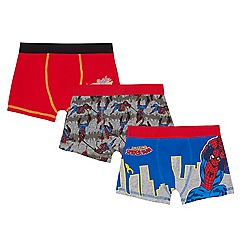 Spider-man - Pack of three boys' multi-coloured 'Spider-Man' print trunks