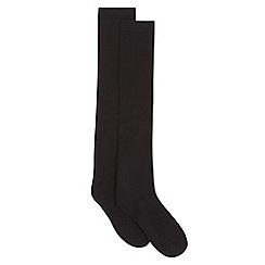 Debenhams - Girls' pack of two black over the knee socks