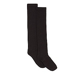 Debenhams - Girls' pack of two grey over the knee socks