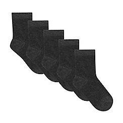 Debenhams - Pack of five boys' grey fresh feet socks