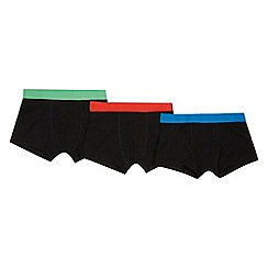Debenhams - 'Boys' 3 pack black trunks