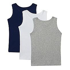 Debenhams - 3 pack boys' assorted vests