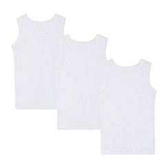 Debenhams - '3 pack boys' white vests