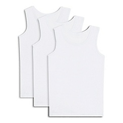 Debenhams - Pack of three boys' white cotton rich vests