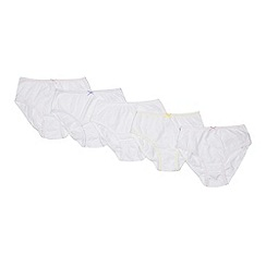 Debenhams - '5 pack girls' white picot briefs