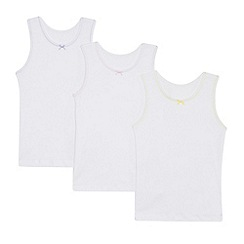 Debenhams - '3 pack girls' white vests