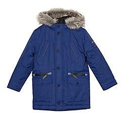 J by Jasper Conran - Boys' blue waterproof parka coat