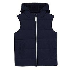 bluezoo - Boys' navy padded hooded gilet