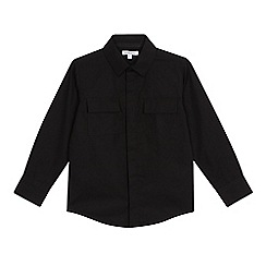 234020105260: Boys black pocket shirt