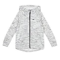 bluezoo - Boys' grey stripe zip through hoodie