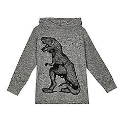 bluezoo - Boys' grey T-rex print hoodie