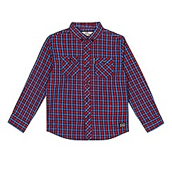 Ben Sherman - Boys' red checked shirt
