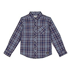 Ben Sherman - Boys' blue checked shirt