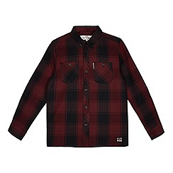 Ben Sherman - Boys' dark red checked shirt