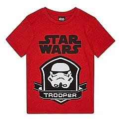 Star Wars - Boys' red 'Star Wars' print t-shirt