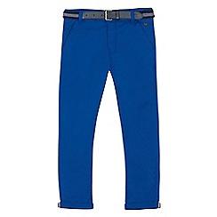 J by Jasper Conran - Boys' blue stretch belted slim chinos