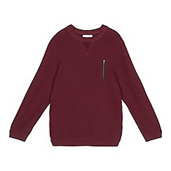 bluezoo - Boys' dark red ribbed jumper
