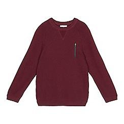 bluezoo - Boys' dark red ribbed jumper