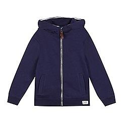 bluezoo - Boys' navy zip through hoodie