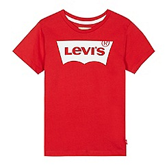 Levi's - Boys' red logo print t-shirt