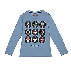 Ben Sherman - Boys' blue vinyl print top