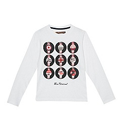 Ben Sherman - Boys' white vinyl print top