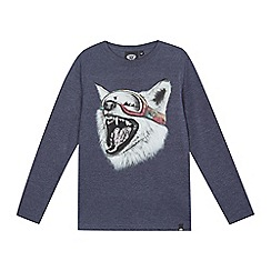 Animal - Boys' navy 'Blazes Wolf' print t-shirt