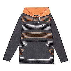 Animal - Boys' grey 'Franco Stripe' hooded top