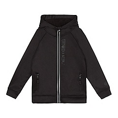 Animal - Boys' black fleece lined hooded jacket
