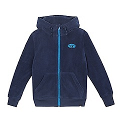 Animal - Girls' navy zip through fleece jacket