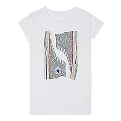 Converse - Boys' white trainer print t-shirt