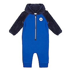 Converse - Baby boys' blue fleece insert all in one