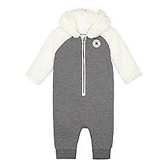 Converse - Baby boys' grey fleece insert all in one
