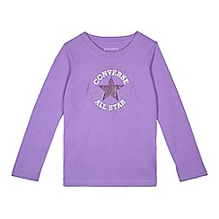 Converse - Girls' purple logo print top