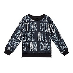 Converse - Girls' black logo print sweater