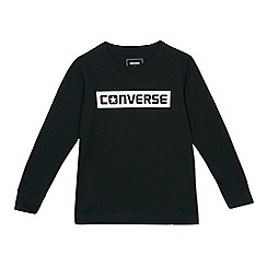 Converse - Boys' black logo print top