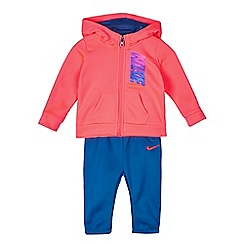 Nike - Baby girls' pink and blue 'Therma' hoodie and jogging bottoms set