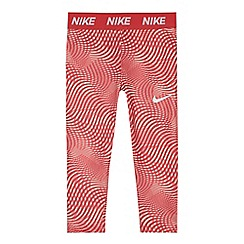 Nike - Girls' pink patterned 'Dri-Fit' leggings
