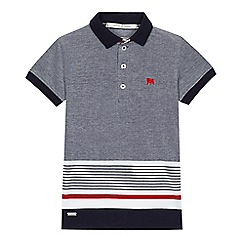 J by Jasper Conran - Boys' navy stripe polo shirt