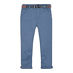 J by Jasper Conran - Boys' blue belted slim fit chinos